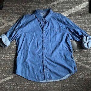 Calvin Klein Jeans Blue Casual Button Down